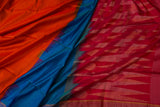 Blue and Pink Soft Silk Saree-1192