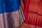Blue and Pink Soft Silk Saree-1328