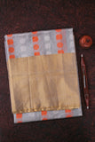 Grey and Gold Tissue Kanchipuram Saree-1294