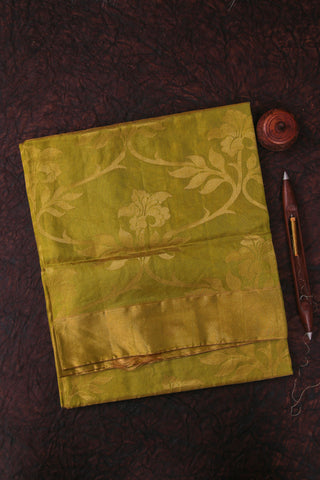 Yellowish Green Kanchipuram Tissue Saree-1789