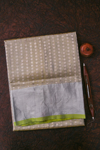 Yellow Kanchipuram Tissue Saree-1855