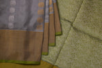 Silver Kanchipuram Tissue Saree-1858