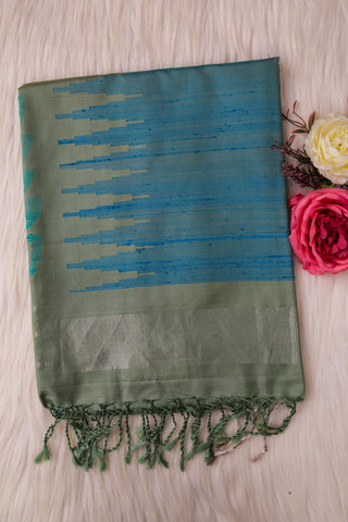 Pastel Green Soft Silk Saree-1362