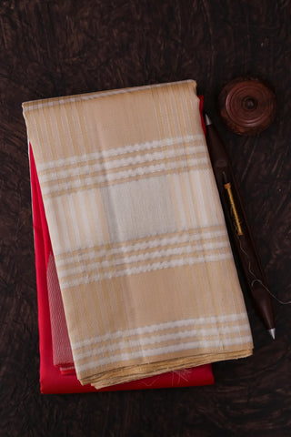 Pink and Beige Kanchipuram Saree-2132