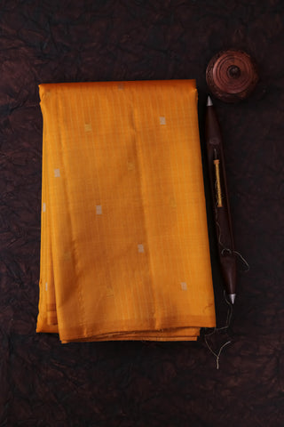 Mustard Yellow Kanchipuram Saree-2164