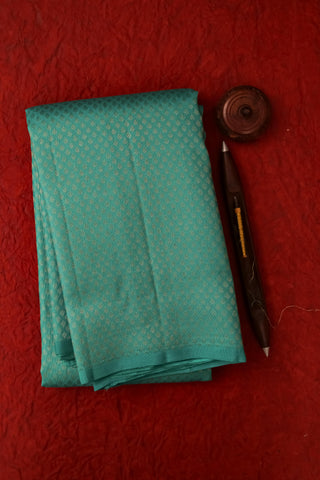 Teal Blue Kanchipuram Saree-2138