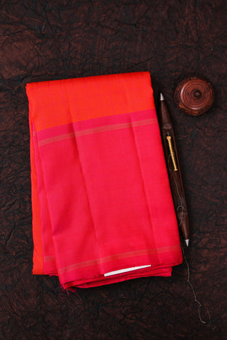 Orange and Pink Kanchipuram Saree-1548