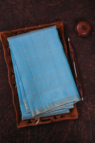 Blue Kanchipuram Saree-1537