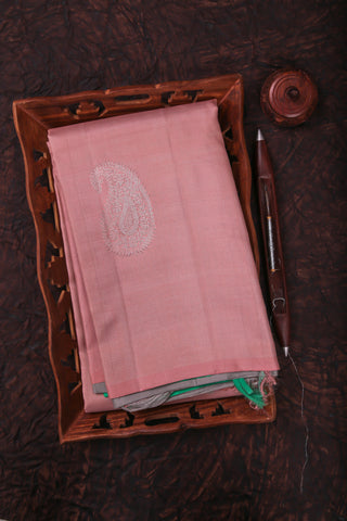 Peach and Green Kanchipuram Saree-2027