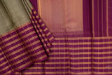 Olive Green and Purple Kanchipuram Saree-1569