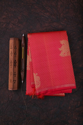Reddish Pink Kanchipuram Saree-1283