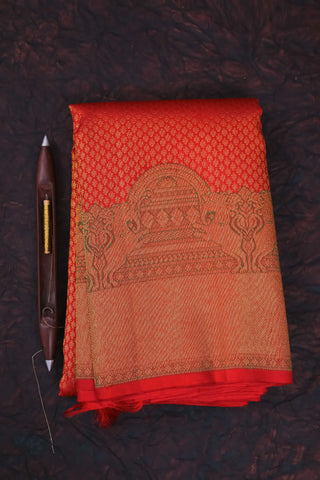 Red Full Zari Kanchipuram Saree-1094
