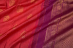 Reddish Pink and Purple Kanchipuram Saree-1287A