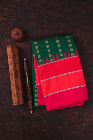 Green and Pink Kanchipuram Saree-1726