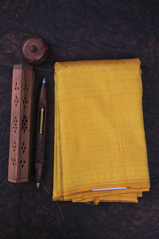 Yellow Full Zari Saree-2174