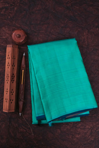 Turquoise Green & Blue Half&Half Kanchipuram Saree-1495