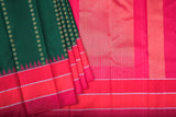 Green and Pink Kanchipuram Saree-1726A