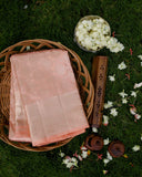 Peach Pastel Silk Saree - 1832