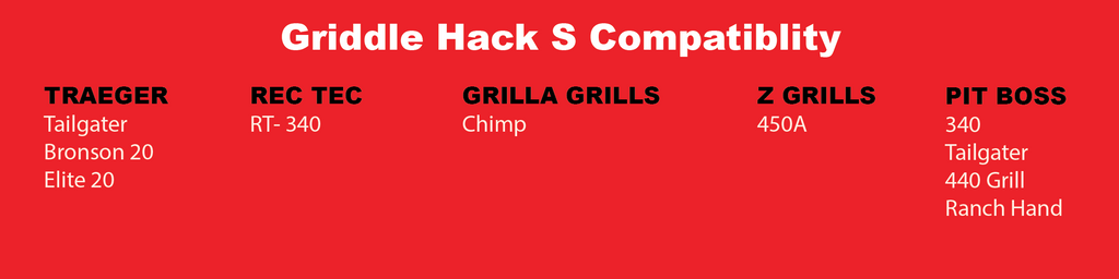 Griddle Hack S Compatibility