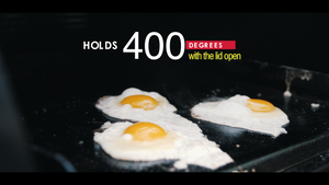 Frying Eggs on the Griddle Hack pellet grill griddle insert by BBQ Hack