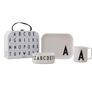 Design Letters Classics in a suitcase
