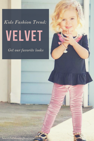 Kids Fashion Trend: Velvet