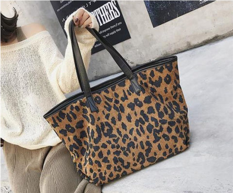 Fashion casual Leather Leopard