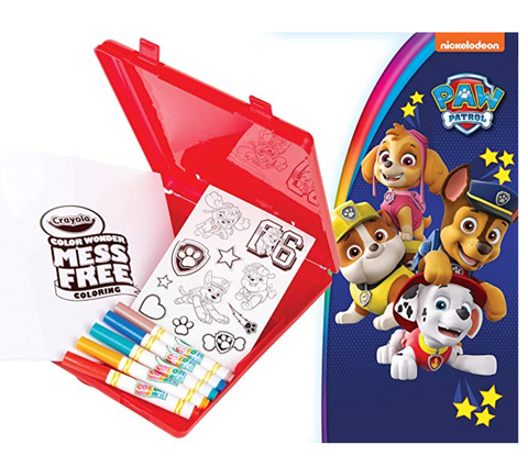 Crayola Color Wonder Paw Patrol Travel Coloring Kit
