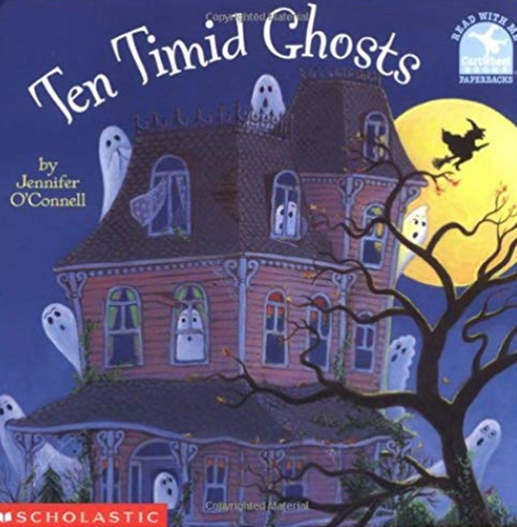 Ten Timid Ghosts In A Haunted House