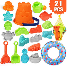 21 peice beach toys set