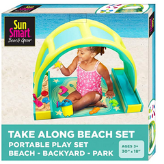 SunSmart Kiddie Activity Play Set with Beach Toys