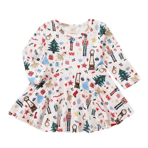 Nutcracker Baby Girl Christmas Dress