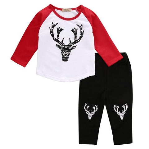Boys 2 piece christmas deer outfit
