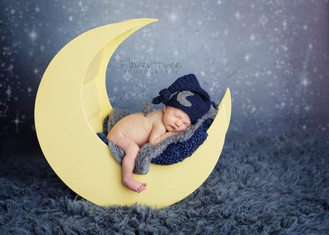 Star Moon Cap Newborn Photography Outfit