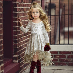 Girls Velvet Dress