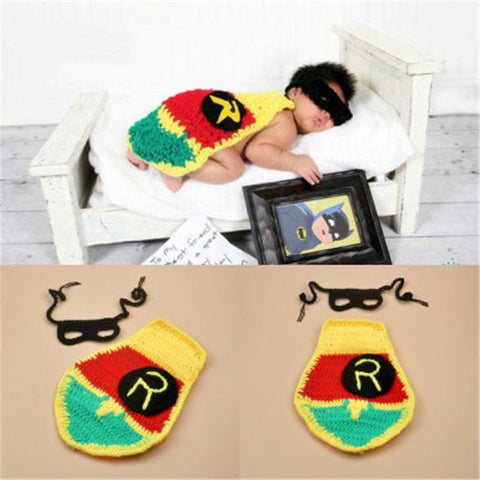 Robin Superhero Newborn Photography Outfit