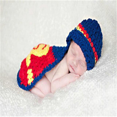 Superman Superhero Newborn Photography Outfit