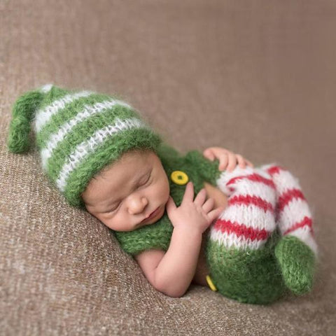 Elf Christmas Newborn Outfit