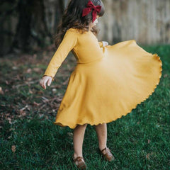 Amber Knitted Ruffle Dress