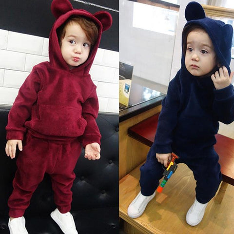 Boys Hooded Sweatsuit