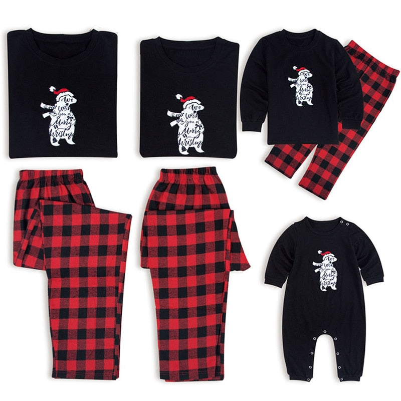 polar bear family christmas pajamas