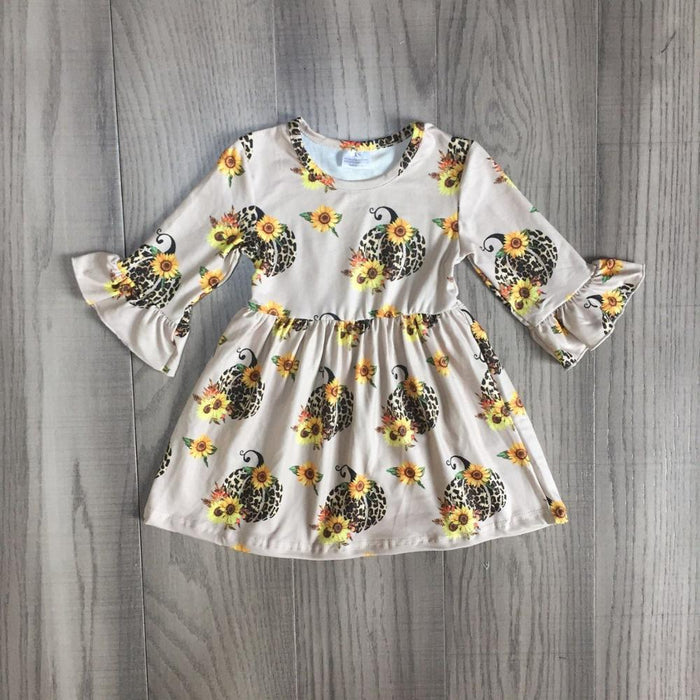 Sunflower Leopard Pumpkin Dress