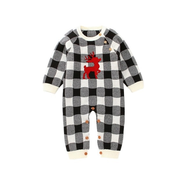 Plaid Reindeer Romper