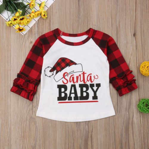 Santa Baby Plaid Top