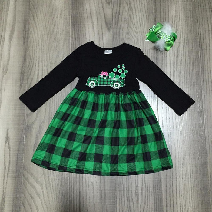 St. Patrick's Day Plaid Dress