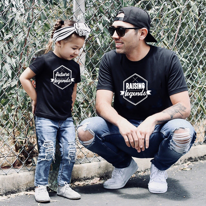 Raising Legends & Future Legends Matching Daddy And Me Shirts