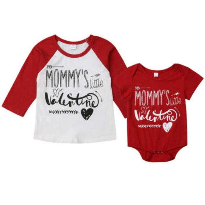Mommy's Little Valentine Matching Shirts