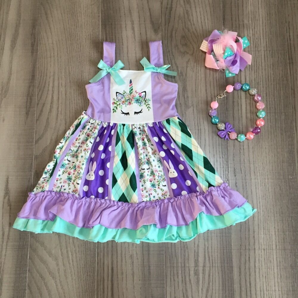 Unicorn Easter Outfit With Accessories