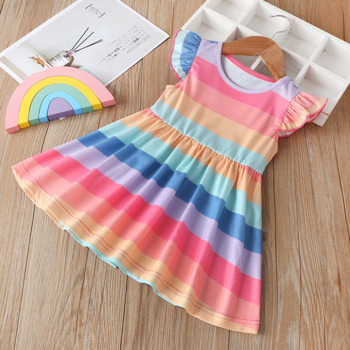 Striped Rainbow Dress