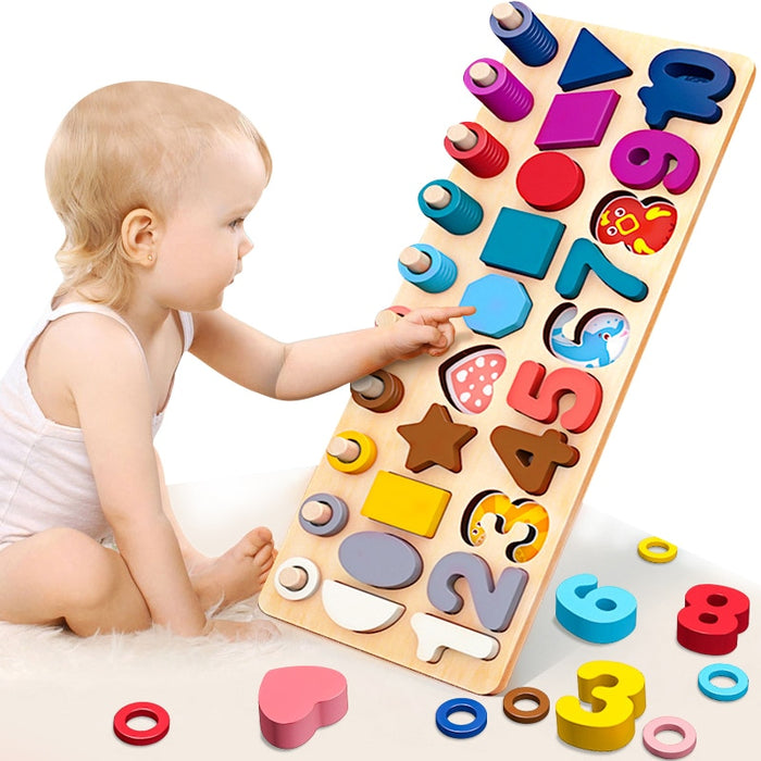 Montessori Educational Wooden Board